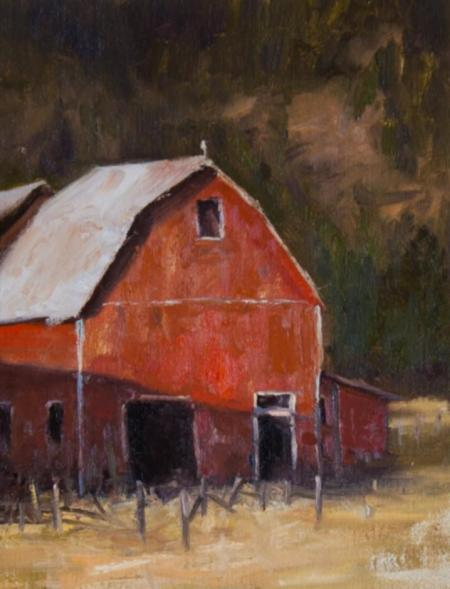 Old Red Barn by Nora Egger