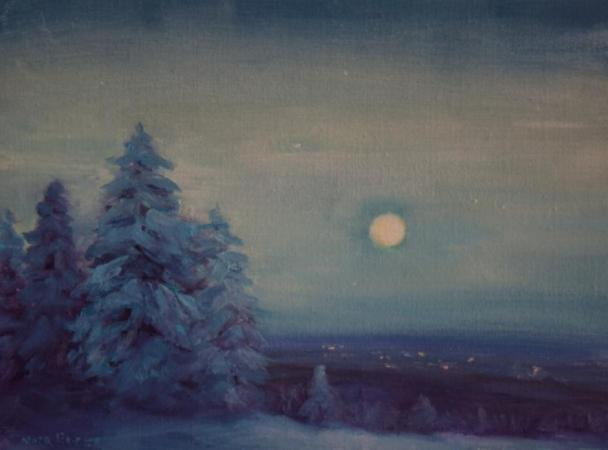 """Blue Winter Evening"" by Nora Egger"