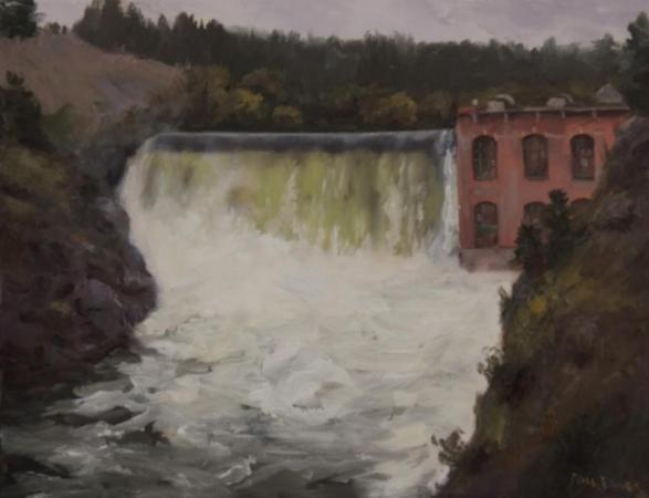 Nine Mile Falls Dam by Nora Egger