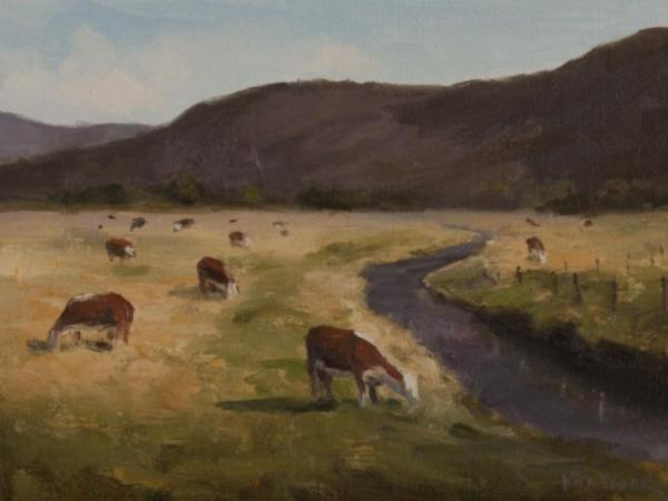 Valley Cows by Nora Egger