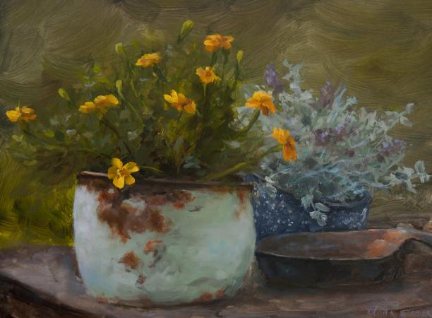 Marigolds by Nora Egger