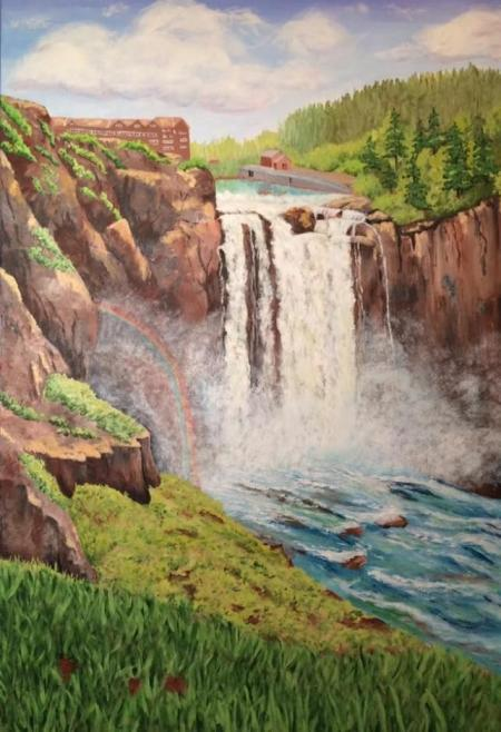 """Snoqualmie Falls"" by Carol Schmauder on Flootie.com"