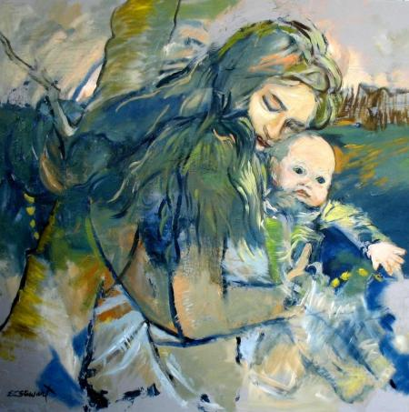 MADONNA AND BABY by E.L. Stewart