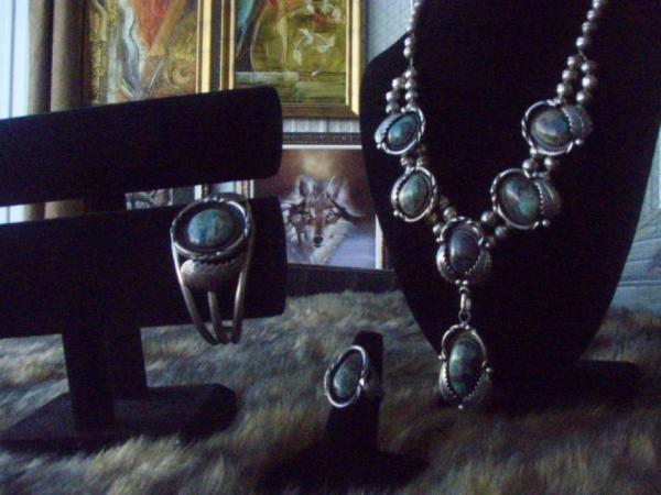 One of a kind Turquoise Set by Signed