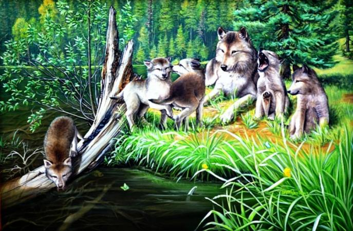 PEACEFUL WOLF FAMILY by LORETTA JENKINS
