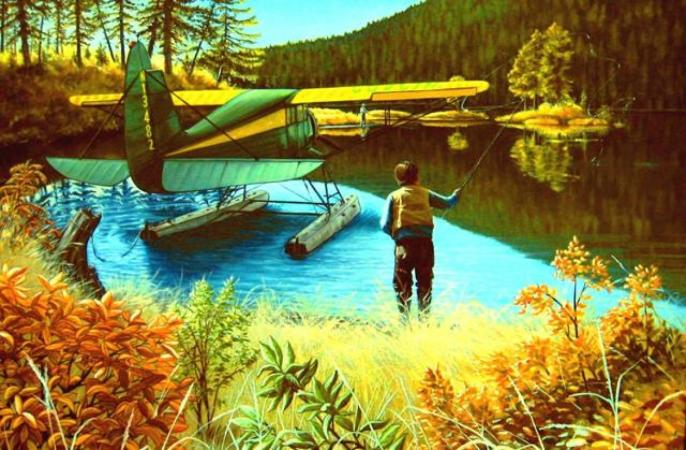 WILDERNESS FISHING by LORETTA JENKINS
