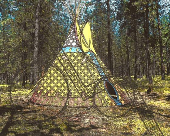 Tipi In The Woods by Buck Mountain