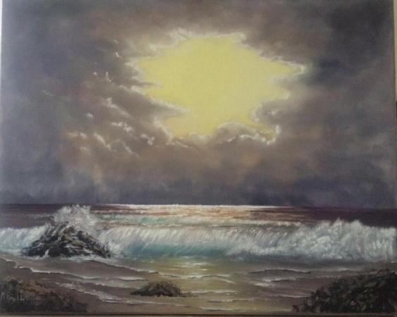 Cloudy sunset on the Celtic sea by Marcela Rogel de Pepper on Flootie.com