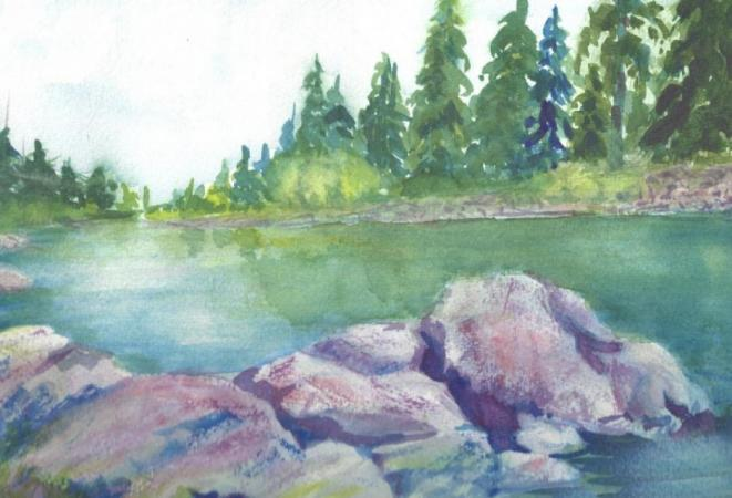 Spokane River by Cheryl Halverson