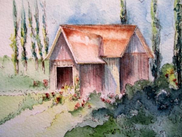Cottages #2 by Vicki A. West