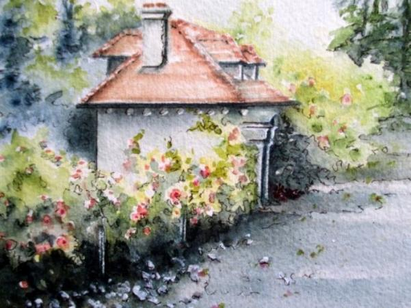 Cottages #1 by Vicki A. West