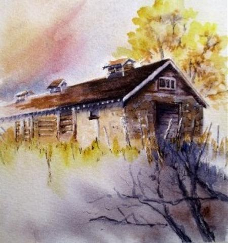 Cottages #3 by Vicki A. West