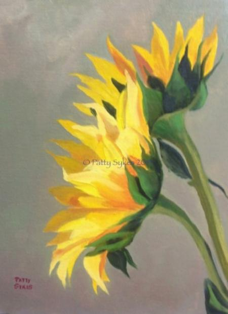 Two Sunflowers by Patty Sykes