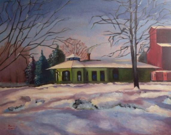 Winter in the Village by Patty Sykes