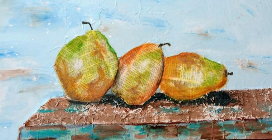 Thoughtful Pears by Ginny Brennan