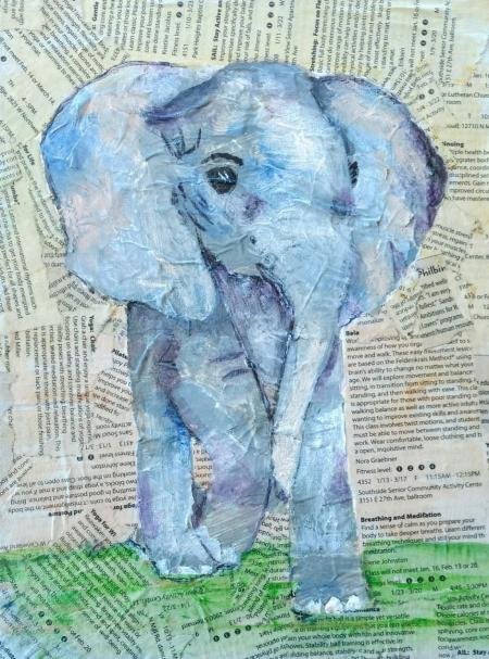 Pondering Elephant by Ginny Brennan on Flootie.com