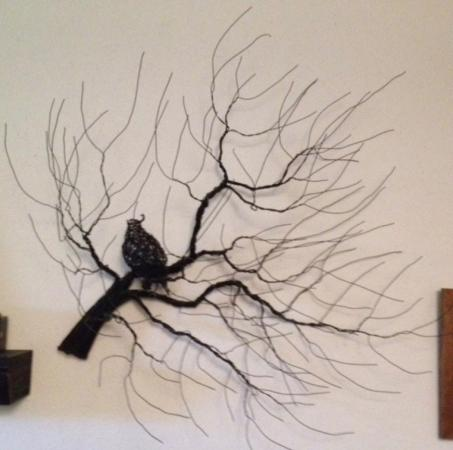 Tree w/ Bird Wire Piece by Kathleen Densley