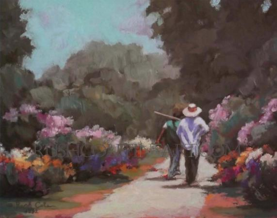"""PLANTATION GARDENERS"" Limited Edition Print by Rush Cole"