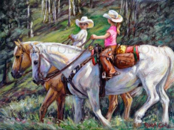 TRAIL RIDING RANCH KIDDOS by Rush Cole