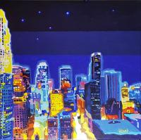 LA at Night In Color by Tracy Dupuis-Roland