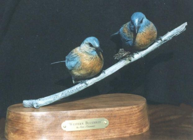 Western Blue Birds by ron adamson
